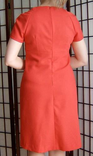 Red Linen Dress Back