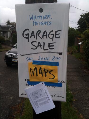 Whittier Heights Garage Sale Maps