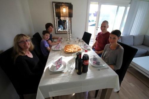 Middag hos Christine og Jens