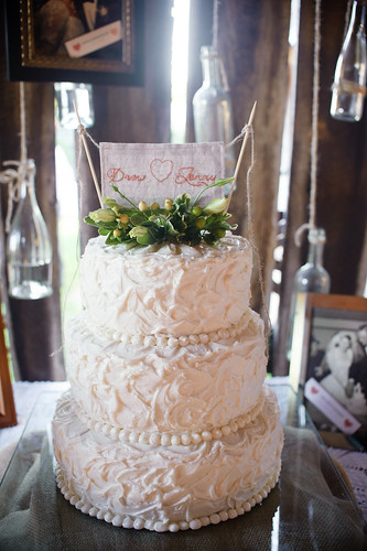 embroidered cake topper