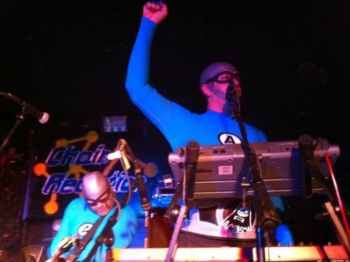 Jimmy the Robot with Crash McLarson of the Aquabats