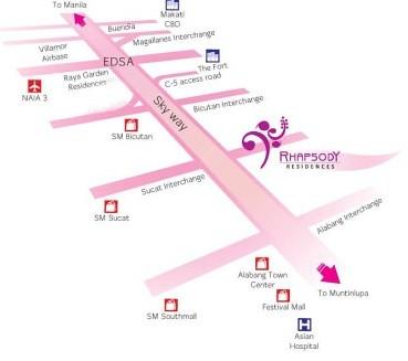 Rhapsody Residences Map
