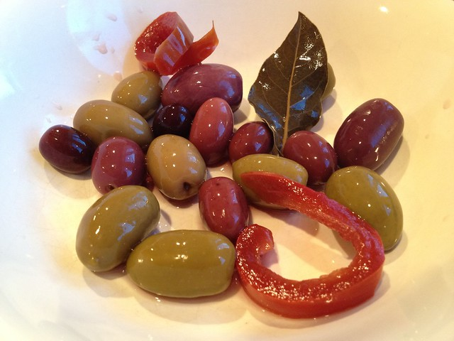 Assorted marinated olives