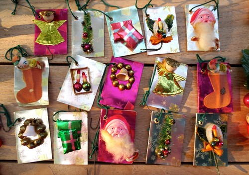Gift tags that have been used only as tree decor