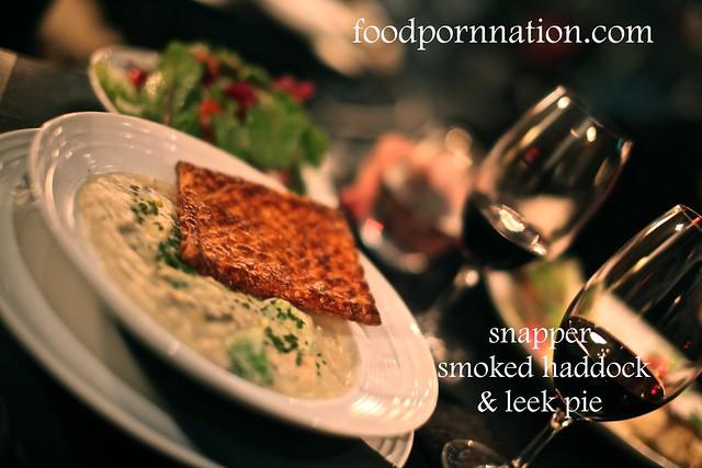 snapper smoked haddock & leek pie