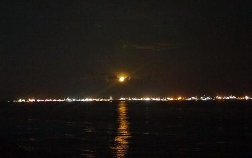 moon over break water