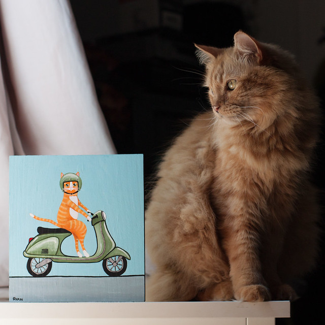 Puddy and Vespa painting