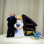 Bride and Groom in cake format