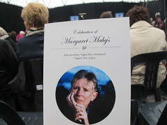 The memorial booklet