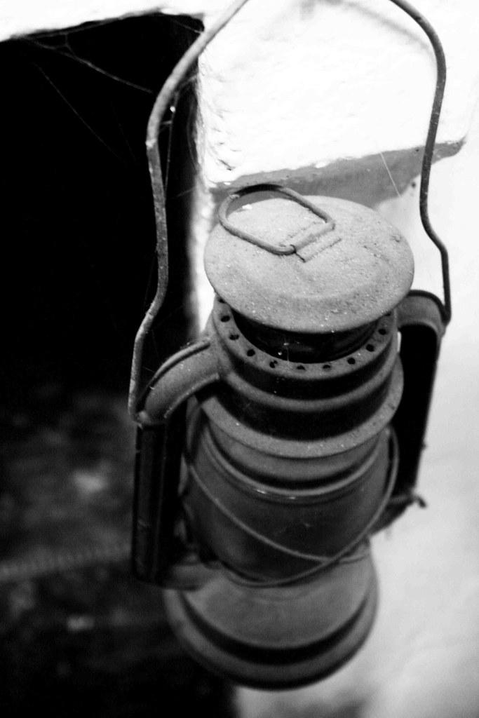 dusty oil lamp