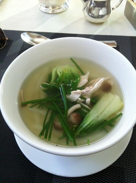 Fresh made noodle soup