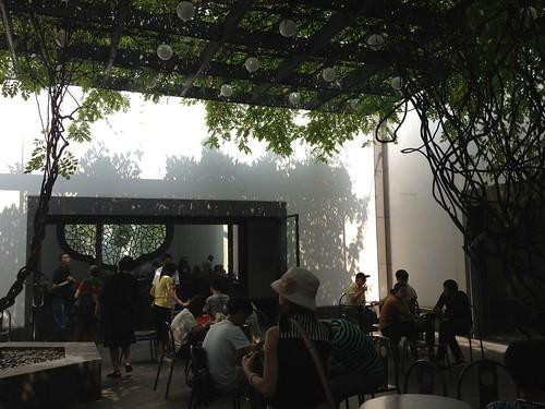 Wisteria Tea room inside the Suzhou Museum