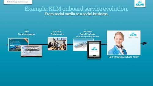 KLM onboard service evolution