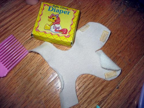 20120603 - yardsale booty - 9 - pony diaper - IMG_4334