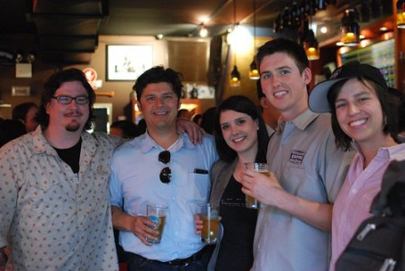 Empire Brewing crew: Tim Butler, Dave Katleski, Olivia Cerio, Mike Feeney and Kati Stadum