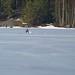 Skiing and fishing season continued on lake Päijänne