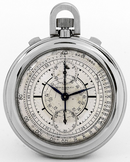 Patek Philippe Two-Tone Sector Dial Chronograph. 1938