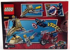 6865 Captain America's Avenging Cycle - Box Back