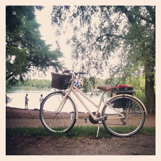 My sweet little ride, enjoying the evening air in Prospect Park.