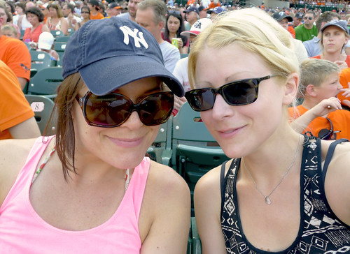 Kate and I at the Orioles game