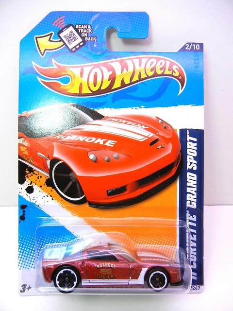 hot wheels '11 corvette grand sport burgundy (1)