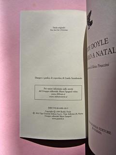 Roddy Doyle. Non solo a Natale, Guanda 2012. Disegno e grafica di copertina: Guido Scarabottolo. Colophon (part.), 1