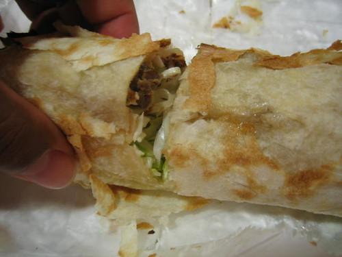 Inside Lamb Sandwich