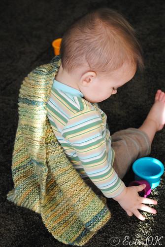 Squishy Garter Stitch Easy Baby Blanket Knitting Pattern (1/3)