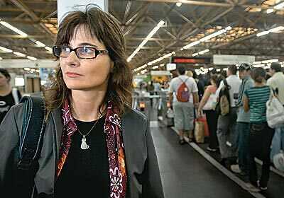 Jornalista Eliane Brum. Foto da revista Época