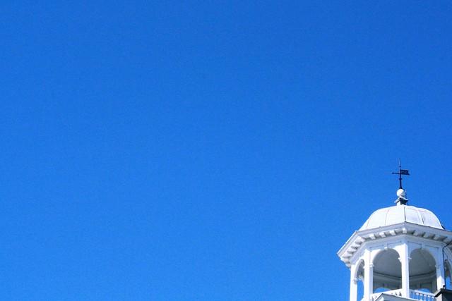 perfect blue sky, cambridge