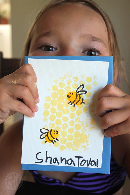 Honey Bee New Year Cards For Rosh Hashanah Alpha Mom