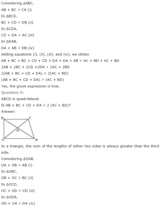 NCERT Solutions for Class 7 Maths Chapter 6 The Triangle and its Properties Ex 6.4 1