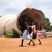 The fallen water tower in Kilinochchi is a sign of 25 years of conflict. Credit: Amantha Perera/IPS.