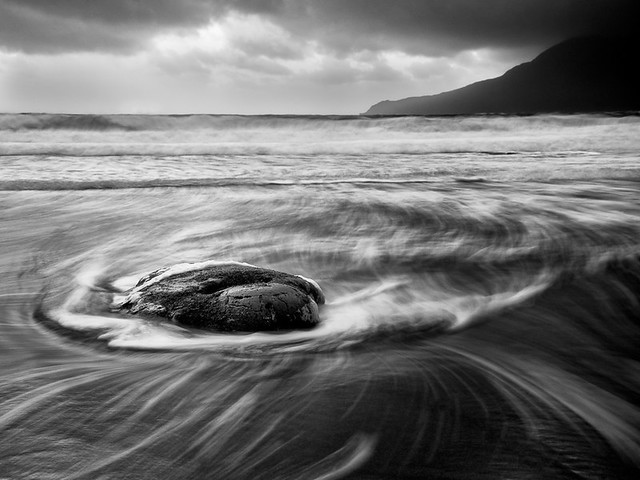 Swirling sea on the Isle of Eigg