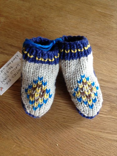 Booties for D+S's little boy