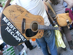Occupy Wall Street Protester Guitar