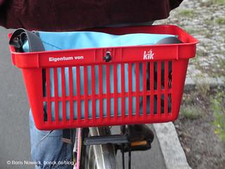 Zweckentfremdeter Einkaufskorb - bonck.de