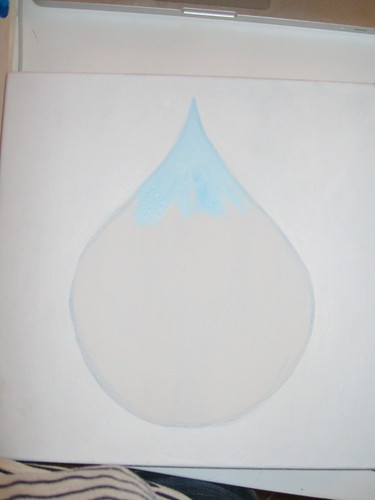 first step to water drop painting
