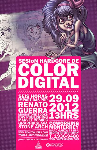sesión hardcore de color digital