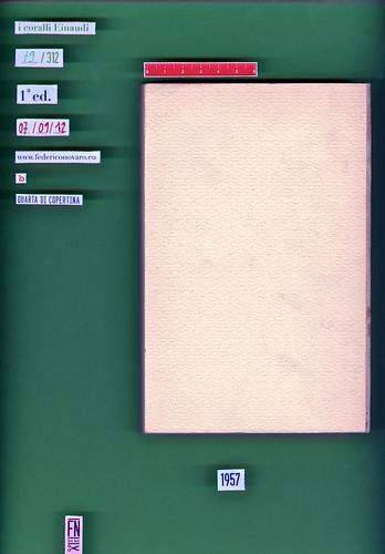 Italo Calvino, Il barone rampante. Einaudi 1957. i coralli 79. Quarta di copertina