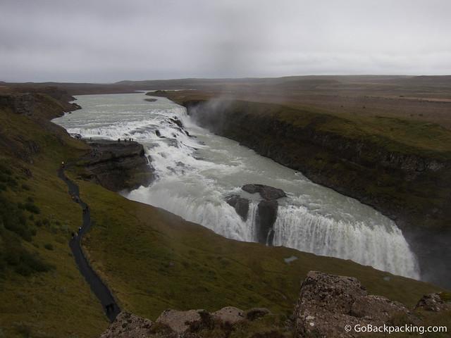 Gullfoss (Golden Falls) waterfall