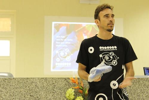 Genésio apresentando as Células Empreendedoras