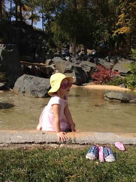 By the pond