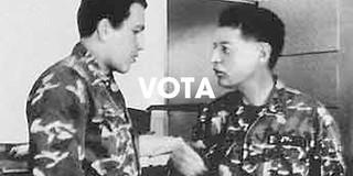 Hugo Chávez y Francisco Arias Cardenas