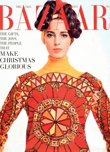 Harper's Bazaar december 1963 cover, Emilio Pucci