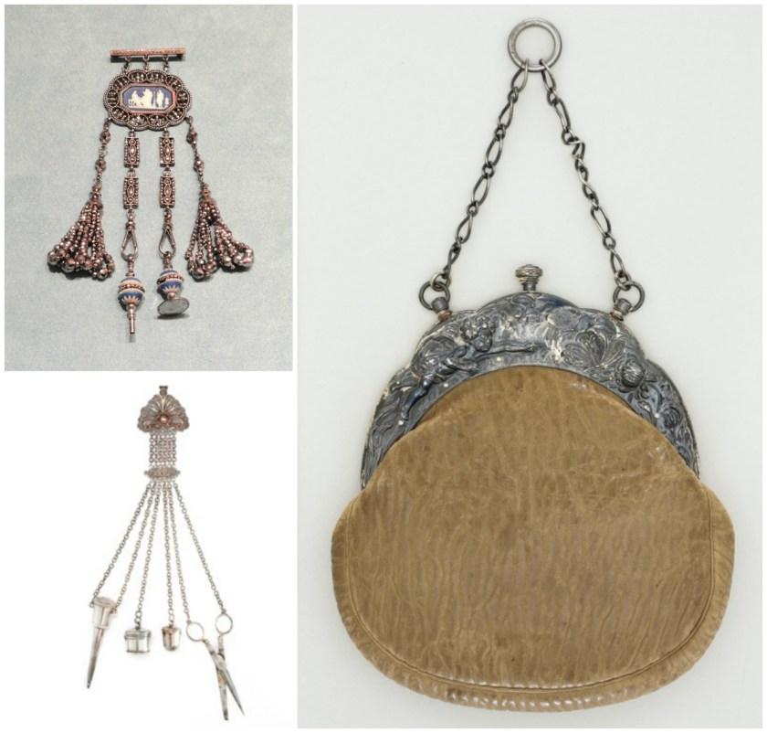 Wedgwood Chatelaine, Indianapolis Museum of Art. Chatelaine, Tassenmuseum Netherlands. Chatelaine bag, LACMA.