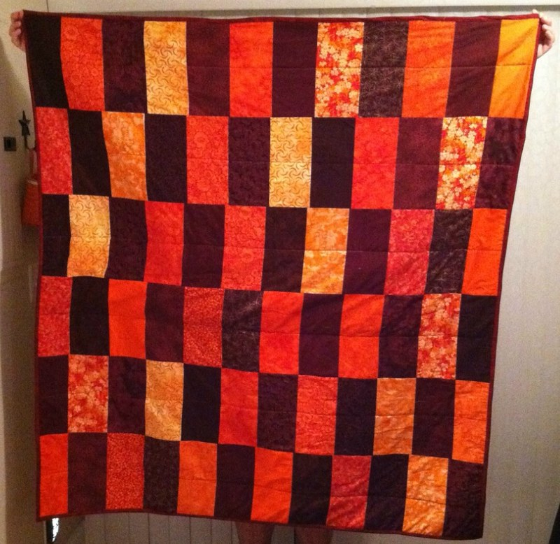 Autumn / Virginia Tech Throw Quilt