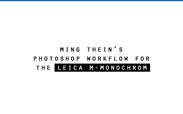 m-monochrom photoshop opening