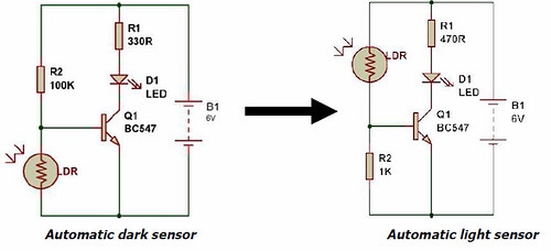 Dark/Light sensor using transistor – BuildCircuit COM