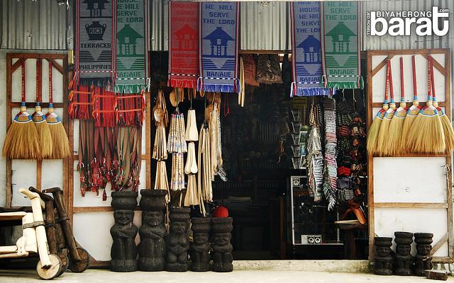 souvenir items in a shop banaue main view point